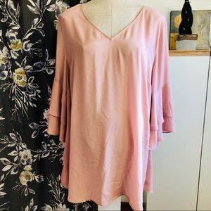 MICHEL STUDIO Blush Bell Sleeve Tunic/Dress